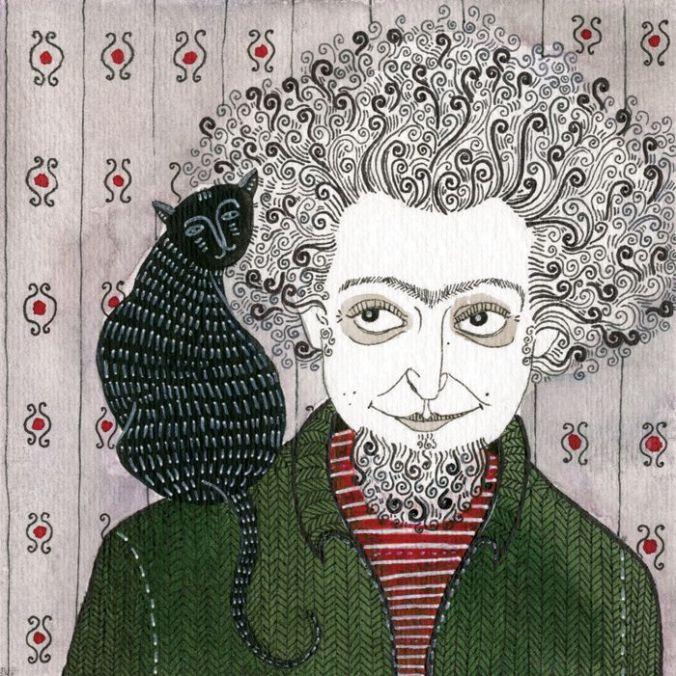Yelena Bryksenkova,drawing of Georges Perec