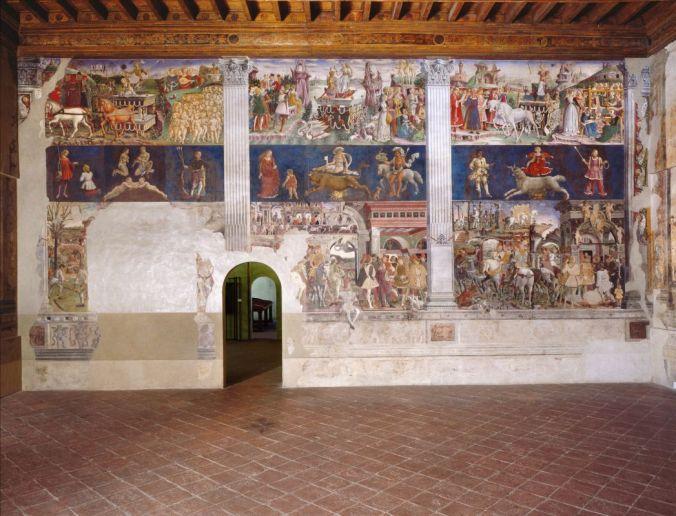 Palazzo Schifanoia, Salone dei Mesi (Francesco del Cossa), parete est