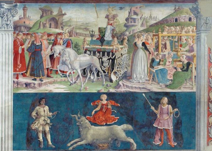 Palazzo Schifanoia, Salone dei Mesi (Francesco del Cossa), dettaglio mese di Marzo (1469)