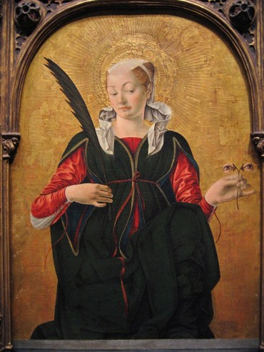 Francesco del Cossa, Santa Lucia (dopo 1470), National Gallery of Art