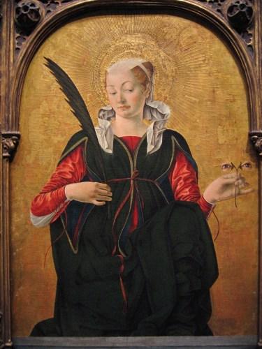 Francesco del Cossa, Santa Lucia (dopo 1470), National Gallery of Art