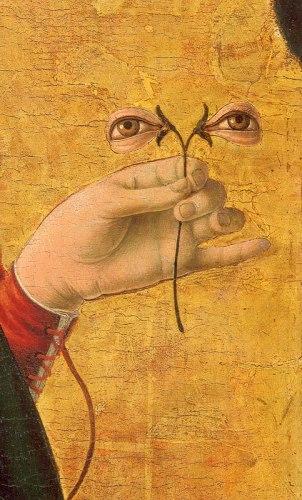 Francesco del Cossa, Santa Lucia (dopo 1470), dettaglio, National Gallery of Art