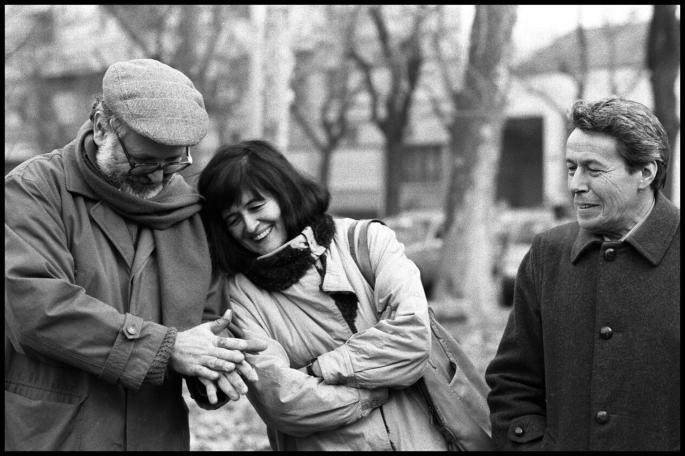 Goffredo Fofi, Grazia Cherchi e Piergiorgio Bellocchio, Milano 1988 (Fonte: www.vincenzocottinelli.it)