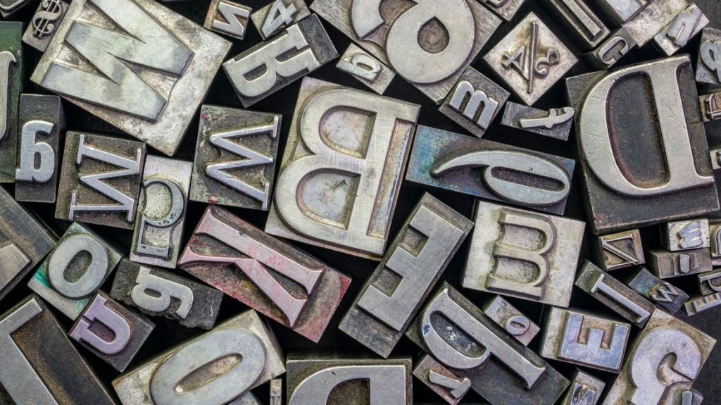 Vecchi caratteri tipografici